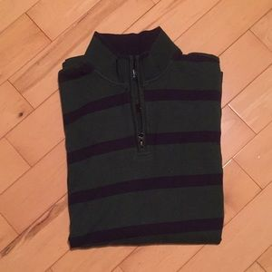 Striped, 3/4 zip by Chaps